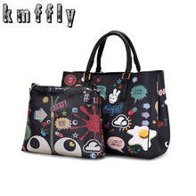 Latest new factory computer embroidery Girls Cartoon Printed Luxury Tote Shoulder bag Designer Wallets Famous Brand Casual Bags