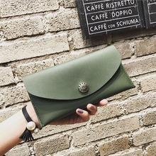 Women Wallets Leather Long Thin Wallet Women  Purses Brand Designer Purse Lady Clutch Money Credit Card Holder
