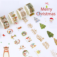 Free shipping Lovely  30mm*7m  high quality  washi paper  tape/Beautiful  Happy Merry Christmas  japan  washi tape