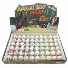 60pcs/lot Children Gift Toys Cute Kawii Magic Eggs Growing Toys Dinosaur Eggs Small +SHOW BOX Hatching Action Figure Toys 3*2cm