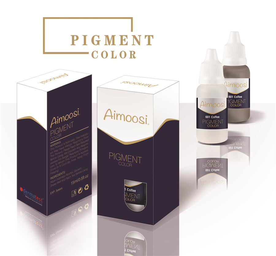 3 Bottles Aimoosi Tattoo Pigment For Tattoo Permanent Eyebrow Munsu Beauty Makeup Ink Free Shipping Goochie quality<br>
