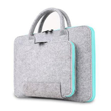"11 13 15 17 inch Wool Felt Large Capacity Laptop Bag For Macbook Asus Lenovo Dell HP 15.6"" 17.3"" Computer Notebook Bag Case"