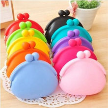 Silicone Round Coin Purse Wallet ID Card Rubber Key Phone Frog Design Bag Pouch(China)