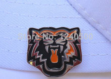 Free Shipping 2pcs/lot Tiger Golf Ball Marker - Orange W/Bonus Hat & Visor Clip