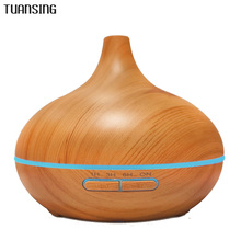 300ml Essential Oil Diffuser Wood Grain Ultrasonic Aroma Cool Mist Humidifier for Office Home Bedroom Baby Room Study Yoga Spa