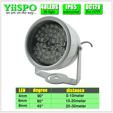 YiiSPO 48 LED illuminator Light CCTV IR Infrared Night Vision For Surveillance Camera Brand New From Factory(China)