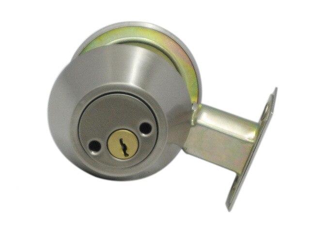 Door Hardware Iron Material Finished Nickel Brush Deadbolt Invisible Locks D102<br>