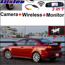 Liislee For Mitsubishi Lancer 2007~2017 3 in1 Special Rear View Camera + Wireless Receiver + Mirror Monitor Easy Parking System