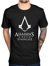 Official Mens Assassins Creed Syndicate Logo T-Shirt Pirates Rogue Identity Game New Design Cotton Male T Shirt Designing(China)