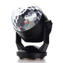 Auto LED RGB Stage Light Voice Sound Control Night Lamp USB Battery Power Magic Ball Disco Crystal DJ Club Bar Party Decor(China)