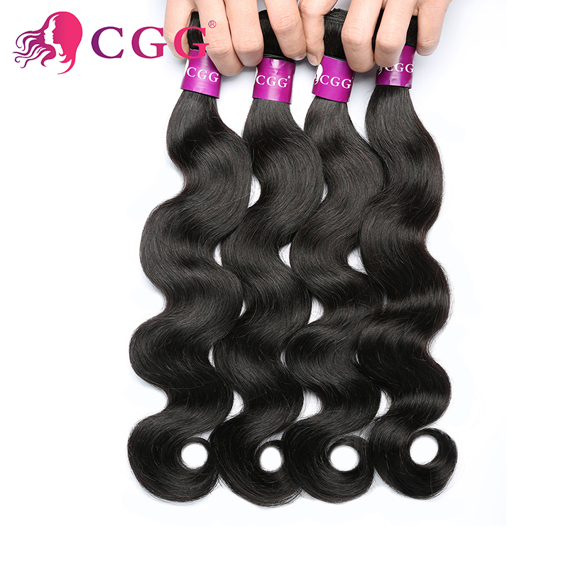 Indian Virgin Hair Body Wave 4 Bundles Grade 7A Unprocessed CGG Hair Products 100% Unprocessed  Human Hair Extensions Weave<br><br>Aliexpress