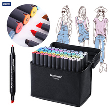 STA 128 Colors Set Art Marker Set Alcohol Based brush pen liner Sketch Copic Markers touch twin Drawing manga art supplies