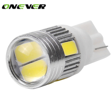 10Pcs T10 W5W 168 194 SMD LED Car Wedge Side Light Bulb Lamp For Car Tail Light Side Parking Dome Door Map Lighting(China)