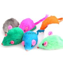 V1NF Fashion New Lovely Bright Coloured Little Funny Cute Mouse Toys For Pets
