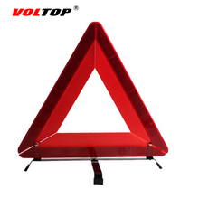 VOLTOP Car Warning Sign Auto Triangle Reflective Emergency Fault Safety Tripod Stop Parking Signs Folded Traffic Road Warning(China)
