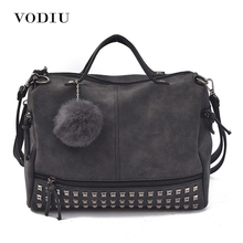 Buy Women Bags Leather Tote Shoulder Handbags Sling Messenger Crossbody Fashion Motorcycle Fringe Scrub Rivet Female Handbags for $17.83 in AliExpress store