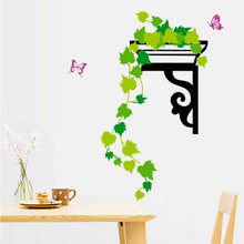 Green Plant Stickers Wall Sticker Wall Art Home Decoration Accessories Bedroom Decor Wall Stickers Home Decor Living Room