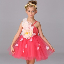 New Children's elegant formal banquet flower girl dress Teen Girl game performance clothing girls dress baby girl's clothes