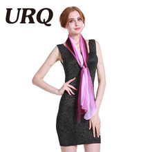 1PC Hot Fashion Shawl Scarf Chiffon Glitter Ombre Hijab Neck Warmer Silk Scarf Women Girls Cape 50*160 Long Headband Q5A16007(China)