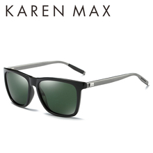 KAREN MAX 2017 HOT sale Men Classic Polarized Rectangle Sunglasses Unisex Retro Luxury Shades high definition HD glasses UV400