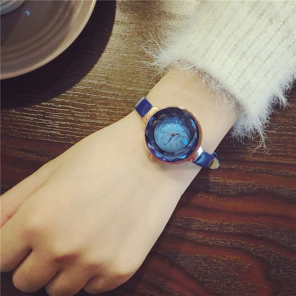 Hot Sale Reloj 1PC Newest  Simple Ultra-thin Small Girls Watch Dial Female Table Belt Casual Wave Free Shipping Nov29<br><br>Aliexpress