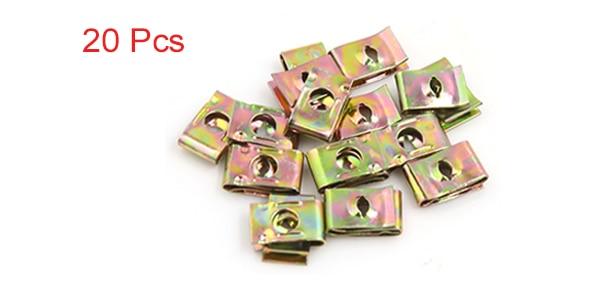 X AUTOHAUX 100 Tornillos de fijaci/ón Tipo U para Placa de Parachoques de Coche