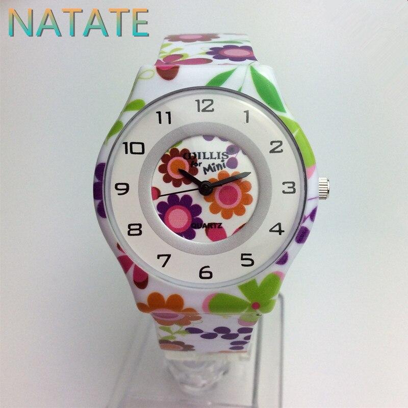 NATATE Fashion Woman Brand Quartz Mini Watch Printing Willis Waterproof Design Analog Ultrathin Silicone band Wrist Watch 1150<br><br>Aliexpress