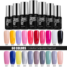 Modelones French Manicure Kit Pink Color Gel Polish Soak off UV Nail Gel Polish Best Selling Base Coat Gel Top Coat Varnish(China)
