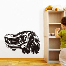 DCTOP New Style Muscle Car Black Vinyl Wall Sticker Cartoon For Kids Room Home Living Room Decor Adesivo Wallpaper