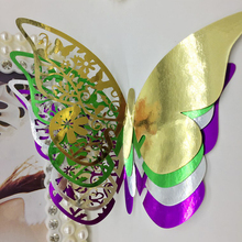 50pcs Wedding Cards Shiny Silver/Gold/Purple/Green Butterfly Shape Place Card Wedding Birthday Party Wine Glass Table Decoration