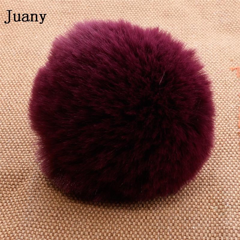 pompom key chain fluffy rabbit fur ball with bell key chain fake fur keychain women car bag key ring 6