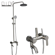 Bathroom Rain Shower Set Stainless Steel Wall Mounted Bath Shower Faucets with Hand Shower