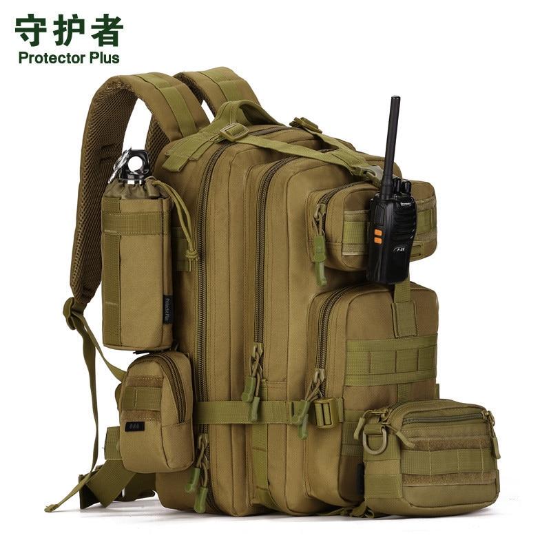 Men bag Military 6000 d  nylon 40 liters backpack 3 p attack 17 inch computer trip mens bags Protector Plus School bag girl <br>
