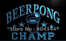 LB941- Beer Pong Champ Beer Bar Pub NEW LED Neon Light Sign