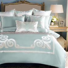 4/6Pcs Luxury Tencel classical Europe Bedding Set Silky soft Duvet cover set Bedsheet Pillowcases Queen King Size bed linen(China)