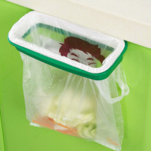 New Portable Kitchen Hanging Trash Rubbish Bag Holder Garbage Rack Cupboard Cabinet Storage Rag Hanger(China)