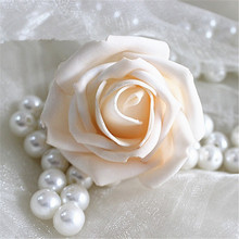 10  Real Touch  Artificial Foam Roses For Home And Wedding Decoration Flower Heads DIY Kiss Balls For Home Decoration PE Flowers