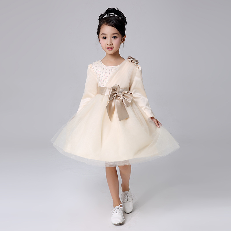 children bridesmaid flower girl wedding dress tulle fluffy ball gown birthday costume stage cloth handmade tutu party dresses<br><br>Aliexpress