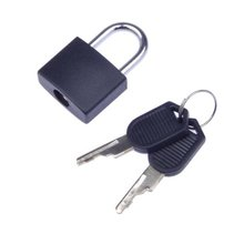 Hot sale Best Price New Black Small Mini Strong Steel Padlock Travel Tiny Suitcase Lock with 2 Keys(China)