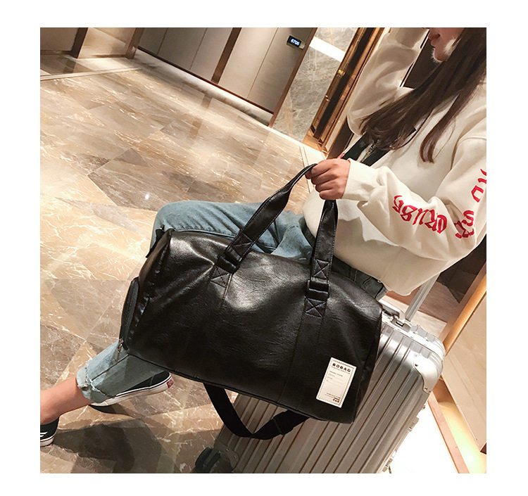 2019 PU Unisex Sport Gym Bag For Men Women With Independent Shoes ... 3057e88526