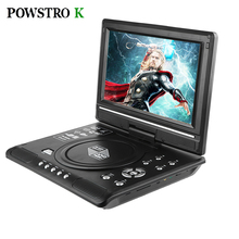 Powstrok 7.8 Inch Portable DVD Player Digital Multimedia Player U Drive Play Card Reader FM / TV / Game SVCD VCD DVCD MP4 MP5
