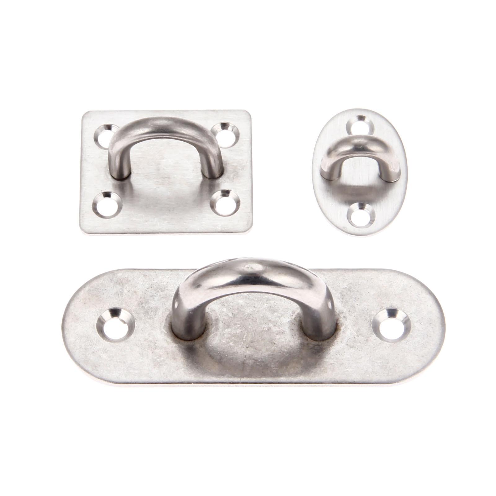 6 Piezas 5 mm de Placa de Ojo de Acero Inoxidable Almohadilla Oblonga Placa de Ojo de Almohadilla Anilla de Grapas de Metal Ferreter/ía de Gancho
