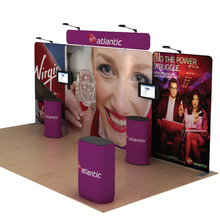 20ft Portable Trade Show Displays Booths Exhibits Pop Up Stand System With TV Brackect Spotlights And Counters(China)