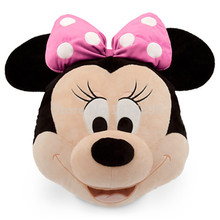Minnie Plush Head Cushion Pillow Big Face Cute Soft Kids Stuffed Animals Toys Children Gifts