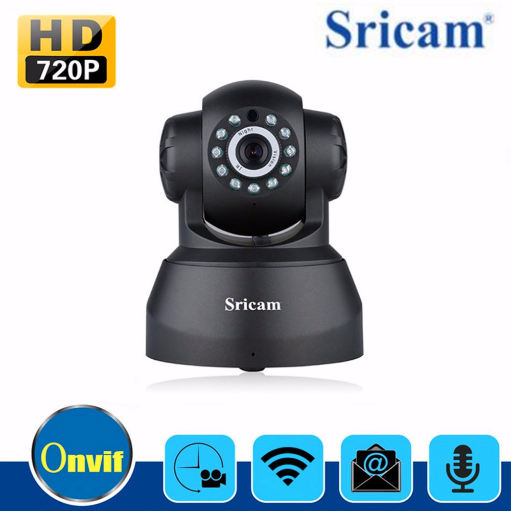 Sricam SP012 IP Camera WIFI 720P Pan Tilt Indoor Security Surveillance Onvif P2P Phone Remote 1.0MP Wireless Video Surveillance <br>