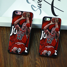 New NBA legend Air brand Michael Jordan 23 fundas PC hard mirror Phone Cases For iPhone 4 4s 5c 5 5s 6 6s puls Black cover