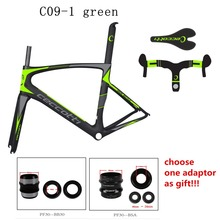 carbon road frame 2017 Toray T1100 PF30 42mm/52mm tapered carbon road bike frames cheap carbon frame road bike custom painting(China)