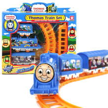 Baby girl's and boy's toys Thomas gauge electric Train set children's slot model toys gifts Diecasts Baby Toy Train Vehicles(China)