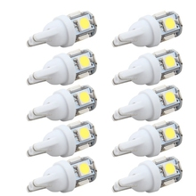 10PCS Car Led 12v T10 Light T10 5050 Super White 194 168 w5w T10 Led Parking Bulb Auto Wedge Clearance Lamp Car Styling(China)