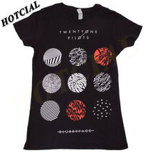 New 2016 Twenty One Pilots Blurryface Pattern Circles Unisex Print Black T-Shirt Casual Graphic Tees Cotton Top Clothing
